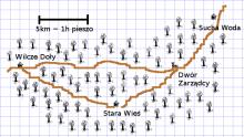 Nawiedzony Grobowiec - mapka okolicy