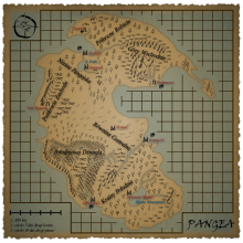 Pangea - mapa świata